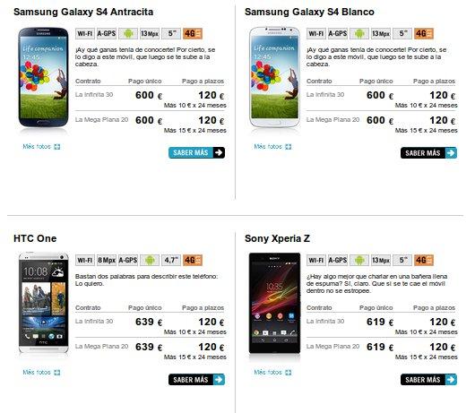 Descubre las ofertas Yoigo 2013 en smartphones
