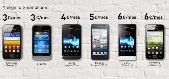 Elige tu smartphone con la oferta Jazztel de ADSL y móvil