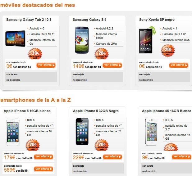 La oferta móviles Movistar y sus competidoras: Orange