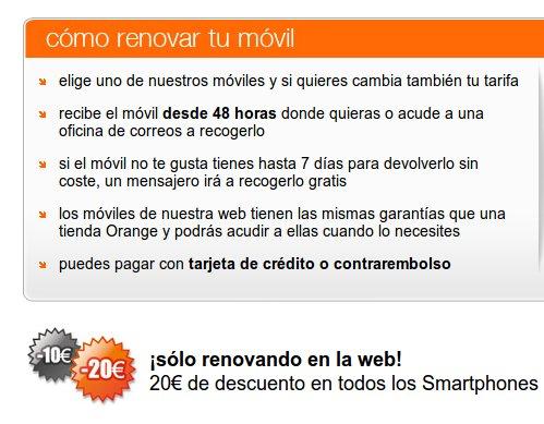 Renueva tu móvil con la oferta móviles Orange