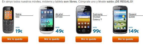 Tablets y smartphones libres con tarjeta sim