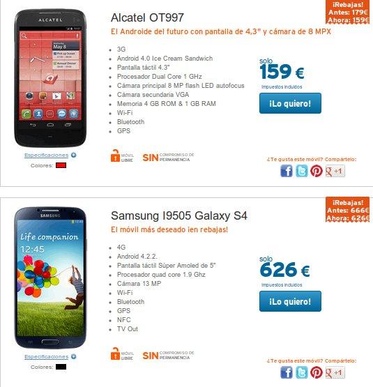 móviles libres Android baratos