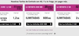Tarifas Yoigo: contrato, prepago, internet y fusión