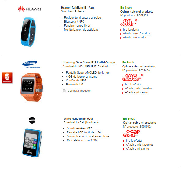 redcoon wearables smartwatches