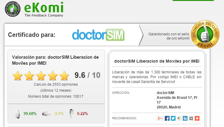 doctorsim.com es fiable