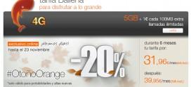Tarifa Ballena Orange: ofertas de contrato y prepago con 4G