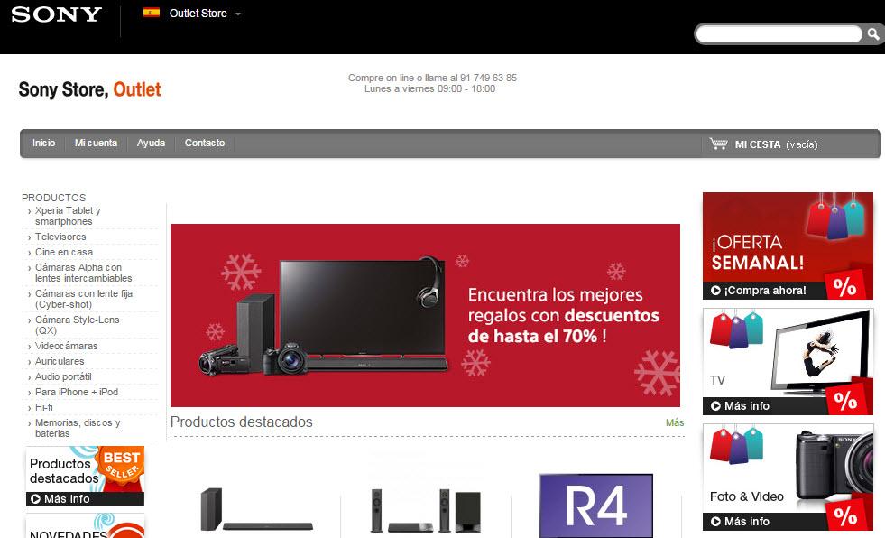 sony outlet store España