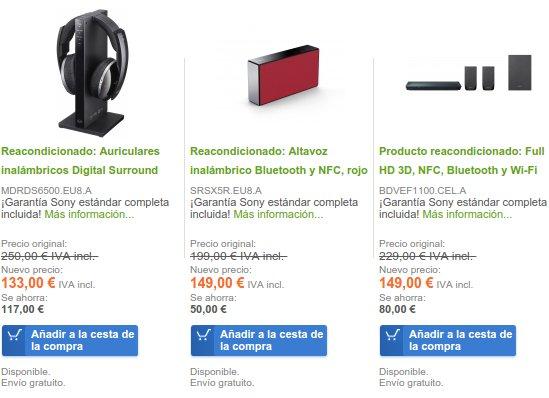 Sony Outlet precios
