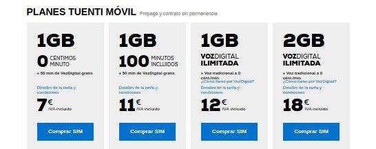 Tuenti Móvil 2015 tarifas