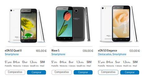 Mobiola: opiniones sobre la colección de móviles eON
