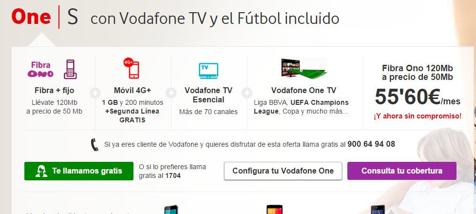 Vodafone one fibra 2015