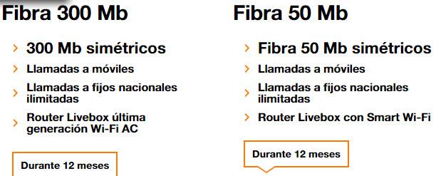 orange fibra 300 MB