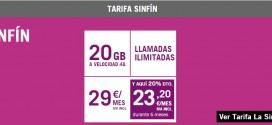 Tarifa Yoigo Sinfin 20GB 2016: analizamos precios y prestaciones