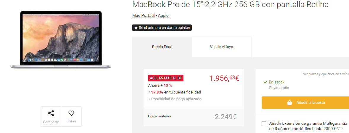 black friday fnac apple