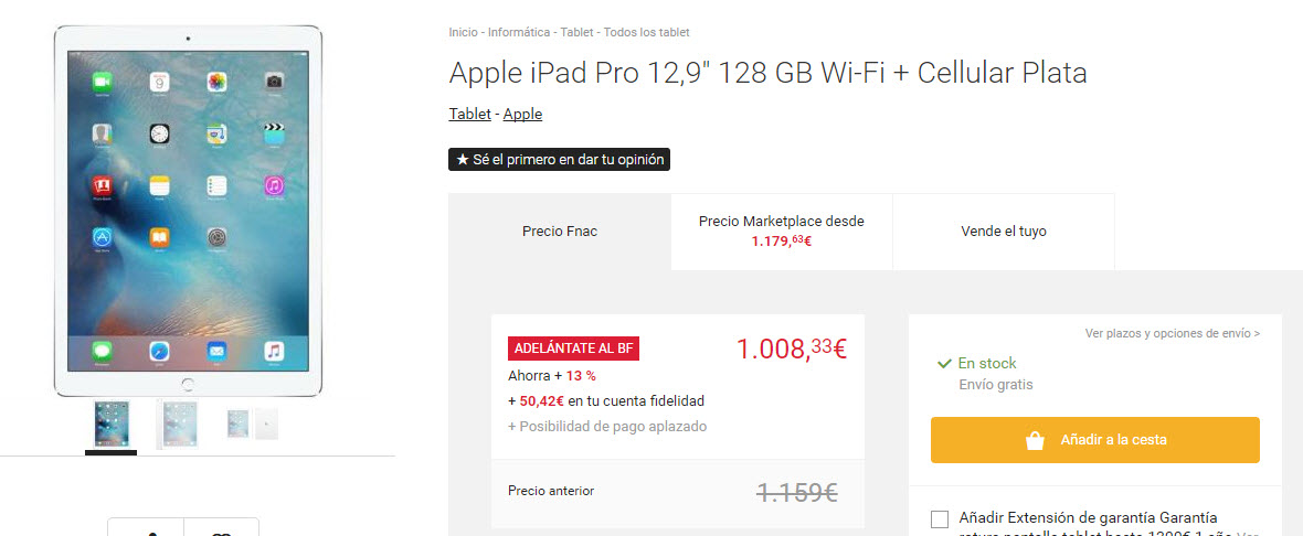 black friday fnac ipad pro