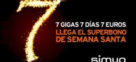 Promocion Simyo Semana Santa: 7Gb por 7 euros