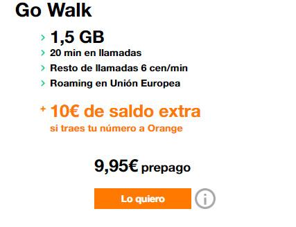 tarifa orange go walk prepago