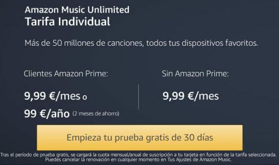 amazon music precios