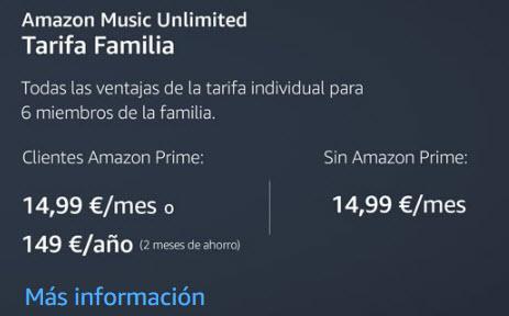 precios amazon music