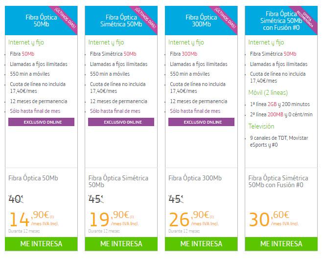 movistar ADSL tarifas