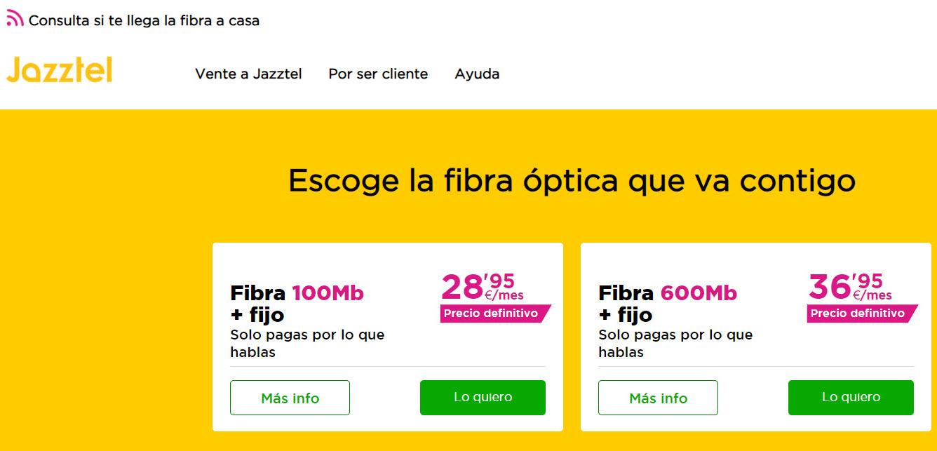 Ofertas Internet Jazztel Fibra