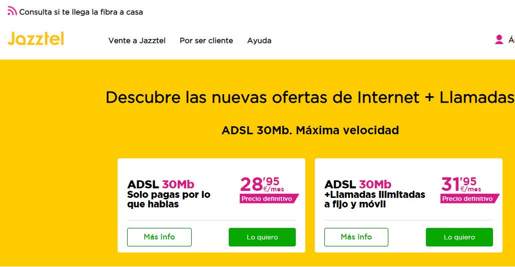 Ofertas internet Jazztel ADSL