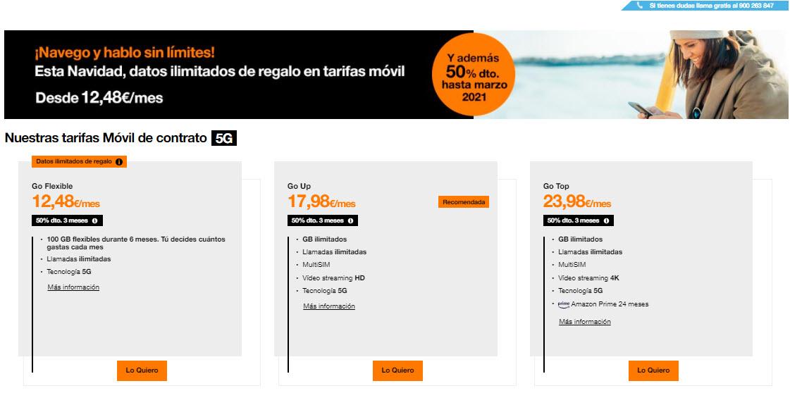 Tarifas Orange Contrato