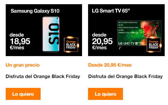 moviles black friday orange