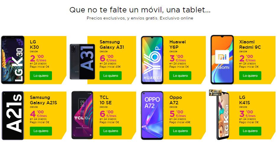 Black Friday Jazztel Smartphones
