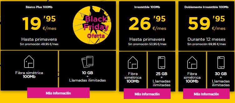 Black Friday Jazztel fibra y movil